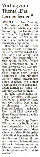 Ostfriesenzeitung 6.5.2017