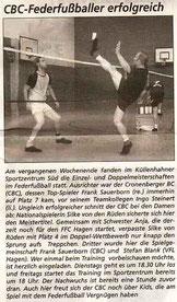 Cronenberger Woche Bericht vom 26.09.2003