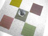絹のコースター・5色セット  ~ストライプ~