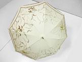 カサブランカの日傘  ~きなり色・ドット柄布付き~