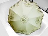 日傘  ~ポップな花更紗・ドット模様~