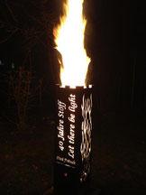 Feuersäule auf Kundenwunsch