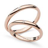 Fede Nuziale Comete Gioielli Dante e Beatrice con un diamante oro rosa ANB1861R