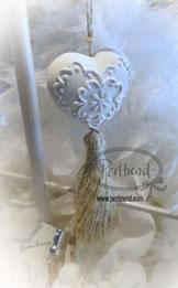 www.perltrend.com Duft Gips Ornament Herz Dekoration Home