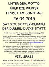 Düssel Ducks www.duesselducks.de Dotter Debakel 2015