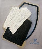 Alois Riedl o.T., 1997 Öl/ Karton 33x23cm