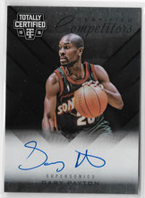 GARY PAYTON / Certified Competitors - No. CCA-GP  (#d 16/25)