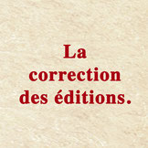 La correction des éditions