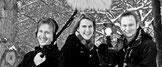 Rene Fische sowie Stefanie Magiera und Tino Magiera bei Dreharbeiten für MDR und ARD
