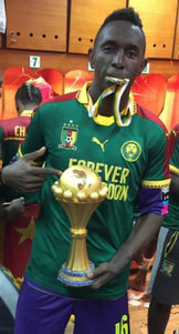 Jules Goda, vainqueur de la CAN 2017 avec le Cameroun