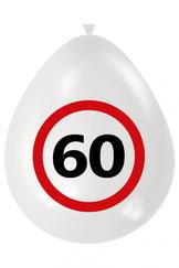 Ballonnen verkeersbord 60 € 2,50