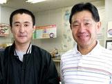 右は店長坂本研一、左はスタッフ中里竜司です。
