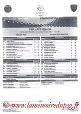 Feuille de match  PSG-Gazelec Ajaccio  2015-16