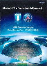 Programme  Malmo-PSG  2015-16