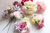 いっぱい飾るには造花ヘッドパーツがおすすめ!
