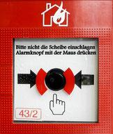 Knopf vorsichtig drücken