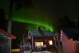 Nordlicht überm Hof