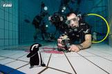 Ernest le manchot et Florian le caméraman © Fabrice Boissier 10mars18