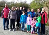 Die Teilnehmer der Kinderwanderung