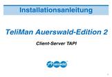 Titelbild Installationshandbuch: Client-Server TAPI Auerswald COMfortel 2500 AB