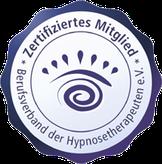 Zertifiziertes Mitglied im Berufsverband der Hypnosetherapeuten e.V.