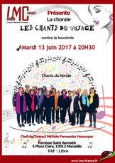 Chorale chants du voyage soutient LMC France Michèle Fernandez Henocque