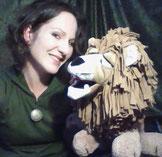 Julia Dörrbecker mit Ihrer Klappmaulpuppe