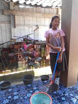 まずは家の掃除!周りの環境に 気を配り始めたセプティナさん