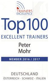Der Präsentationstrainer PETER MOHR gehört zu den TOP-100-Excellence-Trainers