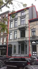 test d'infiltrométrie à l'air (BlowerDoor) des appartement d'un immeuble à Ixelles en 2017 - PrismEco