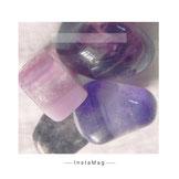 Amethyst, lepidoloth, fluorit Violett, Regenbogenfluorit, ametrin sugilith, spinell, saphir,