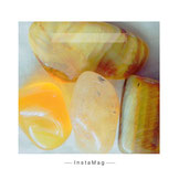 gelber Jaspis, gelber Karneol, Citrin, Tigerauge gelb