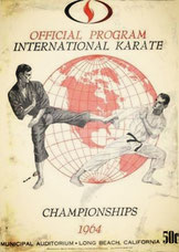 Cartel de primer Torneo Internacional de Karate de Long Beach