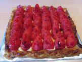 recette tarte fine aux fraises