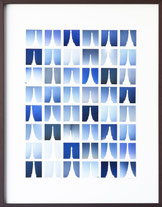 "Lena Oehmsen, ""Blau"" aus der Serie Eiffelturm+ , 2014"