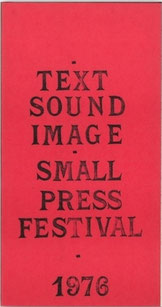 Text-Sound-Image catalogue, Guy Schraenen Archive for Small Press & Communication A.S.P.C.