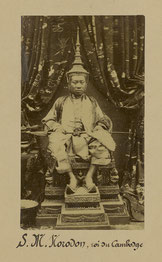His Majesty King Norodom in Khmer ceremonial dress
