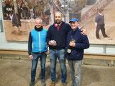 Tête-Meister Jacques mit Martin B. und Organisator Jürgen D. (v.r.)