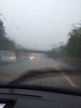 Der Regen auf der Heimfahrt von Ferrette