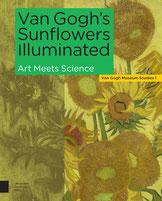 Hello Radio Podcast over Van Gogh's Sunflowers illuminated