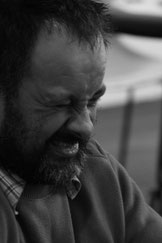"""Sylvain Grangier, mort de rire, lors d'un """"bad"""" mis à Thibault LESUR"""