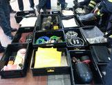 Ausrüstungsgegenstände für die Facheinheit Gefahrstoffe