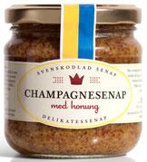 Schwedischer Senf, Senf mit Champagne und Honig, Senf aus Schweden