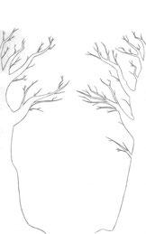 Schritt 1 - Bleistiftzeichnung