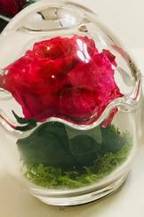 稽古花の加工アレンジ 薔薇