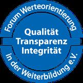Der Präsentationstrianer PETER MOHR ist Inhaber des QUALITÄT-TRANSPARENZ-INTEGRITÄTS-SIegels