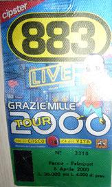 Biglietto Tour 2000