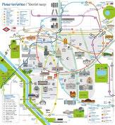 Туристическая карта метро Мадрида