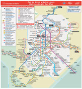 Карта Метро в Мадриде