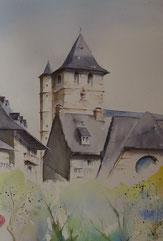 Des aquarelles de la vallée du Goul et des textes sur les souvenirs d'